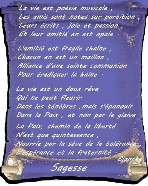 Poeme De Mon Amie Blanche
